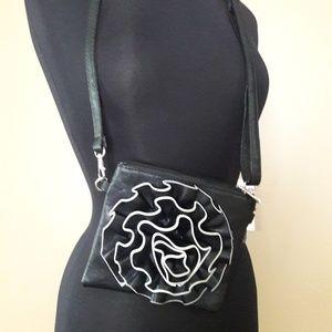 NWOT Mellow World Crossbody Bag w/ Raised Rosebud